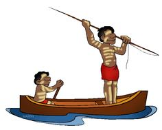 Spear clipart aboriginal. Man beautiful melinated people