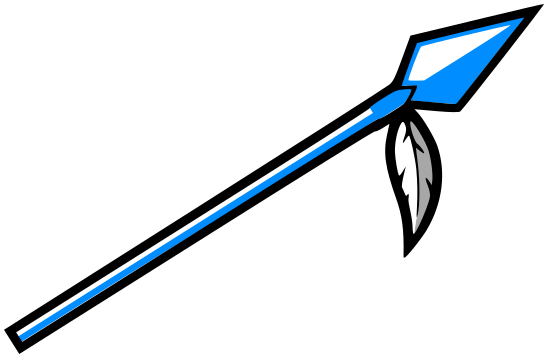 Spear clipart blue. Charming ideas w feather