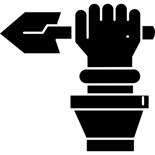 Spear clipart holding. Indian hand a icons