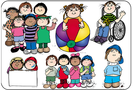 Special clipart. All kids are downloadable
