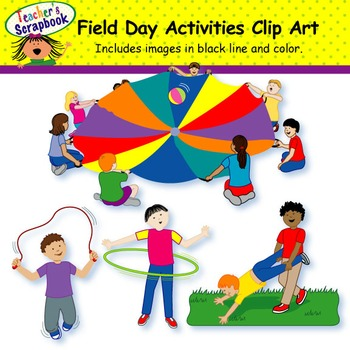 Special clipart field day activity. Clip art teaching resources