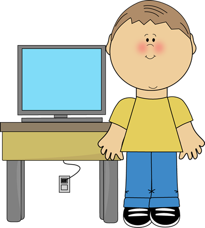 Special clipart specialist. Boy classroom computer technology