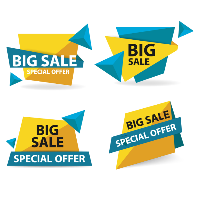 Special offer banner png. Colorful shopping sale template