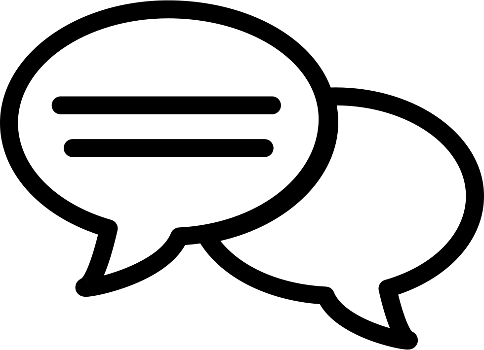 Speech bubble icon png. With lines svg free
