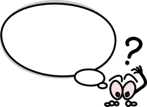 Speech clipart person. Bubble with confused clip