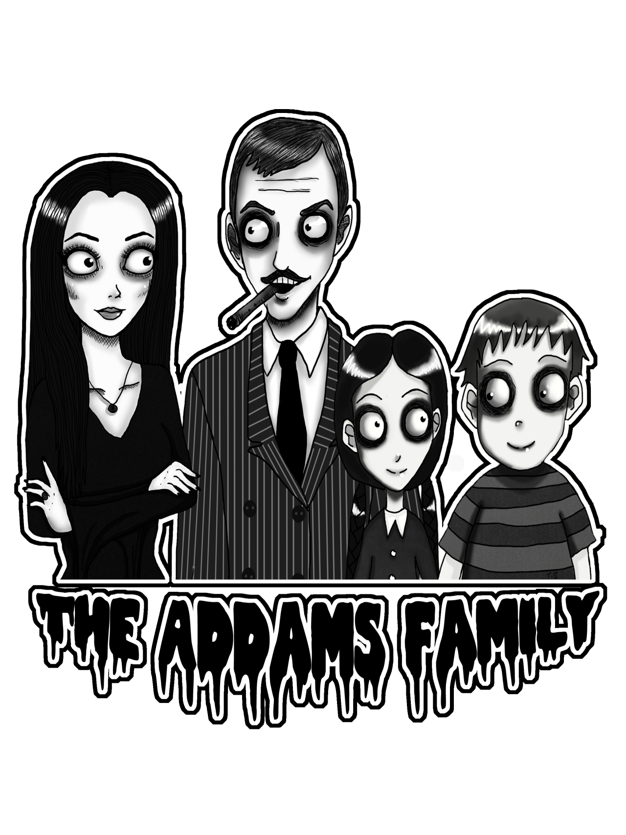 Speedpaint drawing addams family. Ravenous decay artistic anthesis