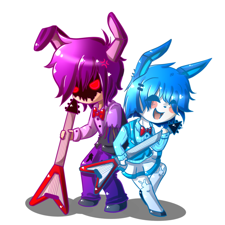 Speedpaint drawing fnaf bonnie. Chibi y bonbon by