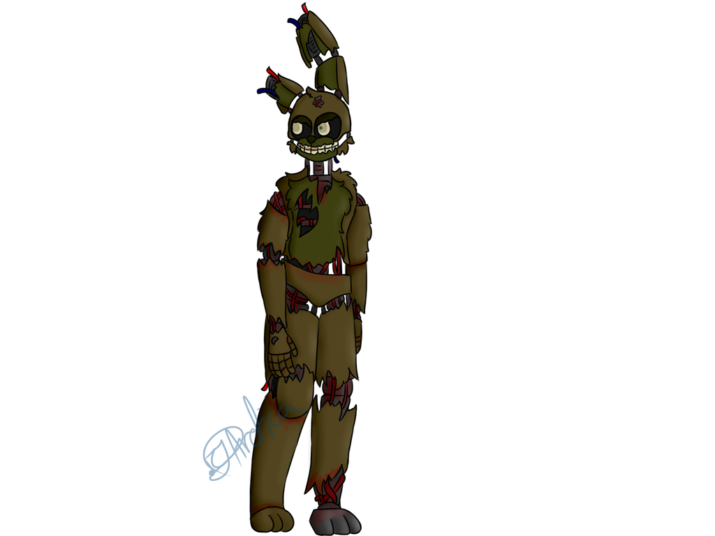 Speedpaint drawing springtrap. At by cjarctica on