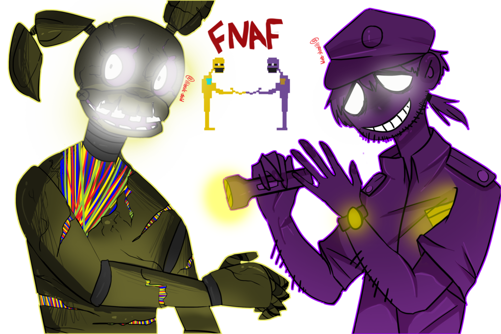 Speedpaint drawing springtrap. Fnaf its him by