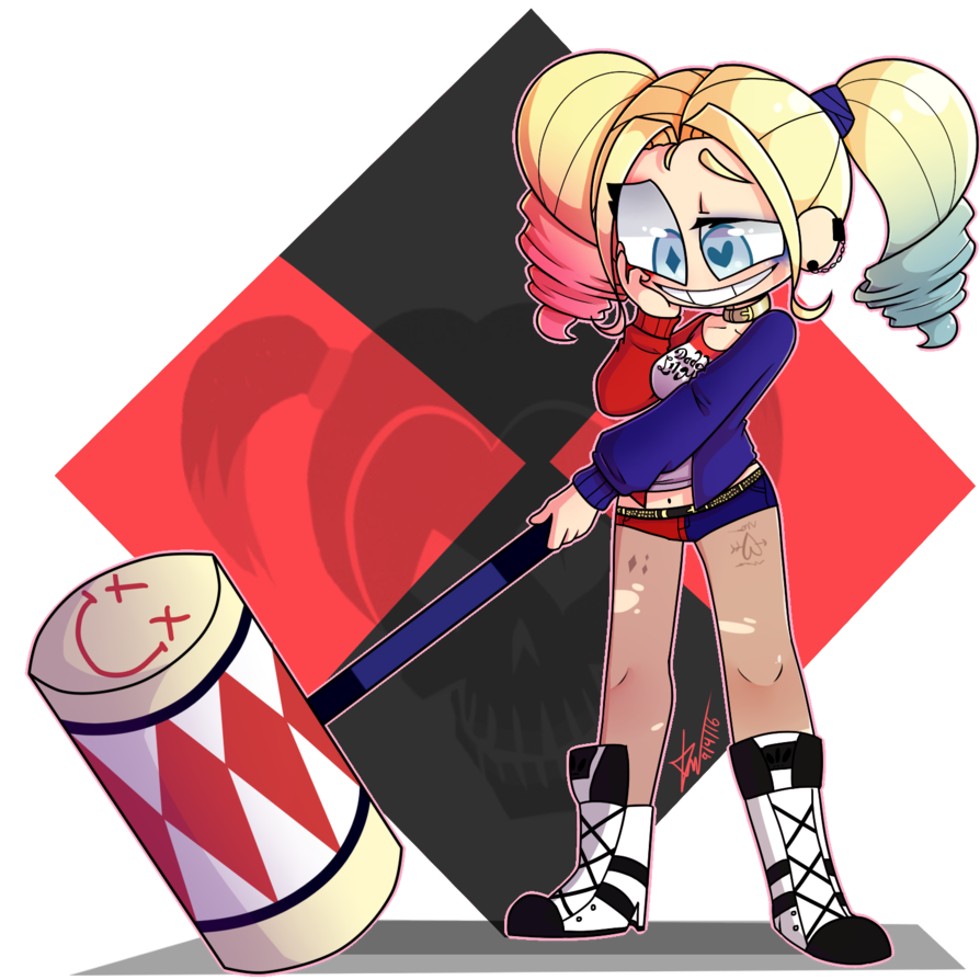 Harley quinn by kimberry. Speedpaint drawing banner freeuse