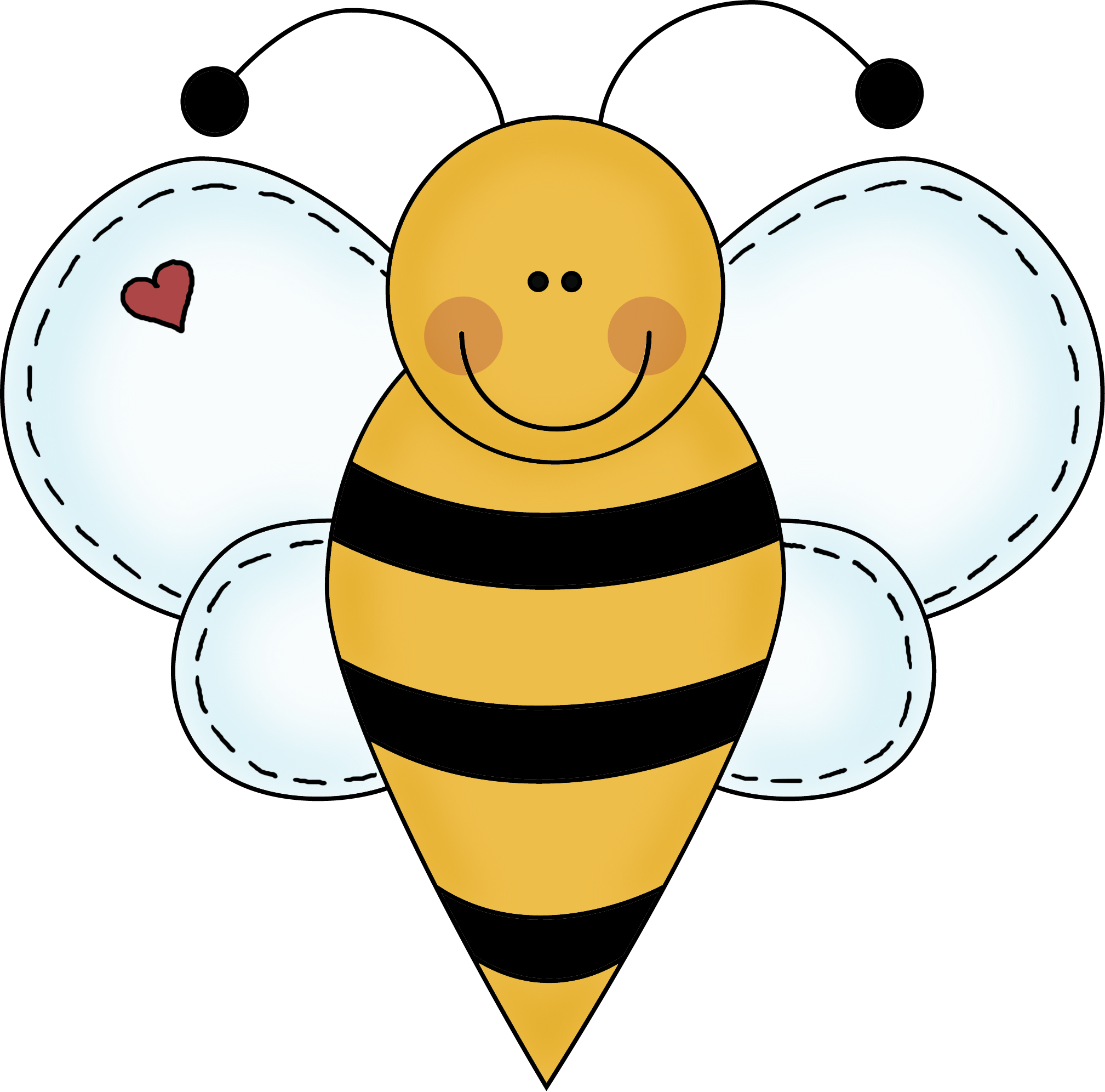 Spelling clipart. Bee black and white