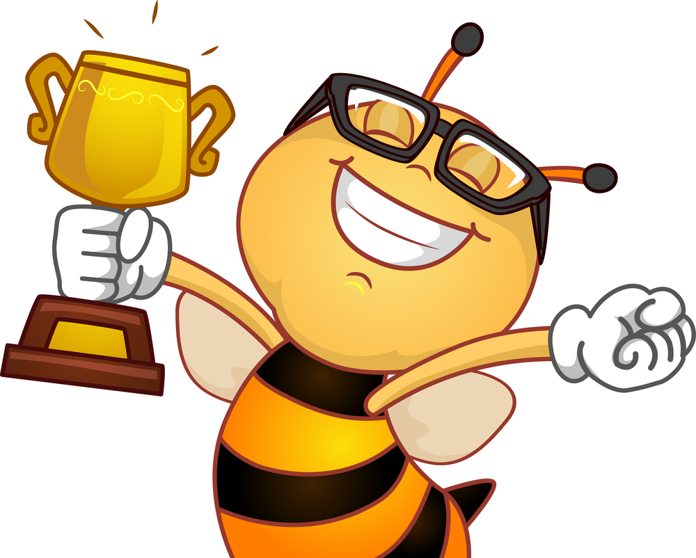 Spelling clipart center time. It s bee season