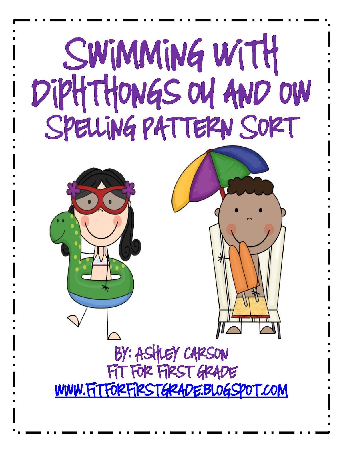 Spelling clipart center time. Fit for first grade