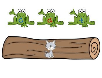 Spelling clipart center time. Frogs on a log