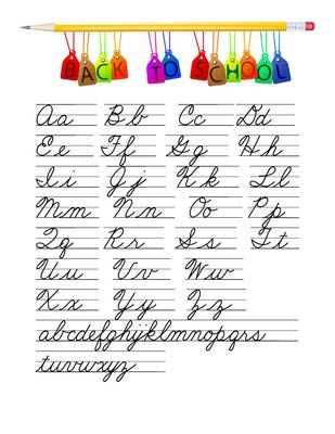 Spelling clipart cursive. Best writing practice