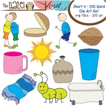 Spelling clipart early literacy. Short vowel cvc word