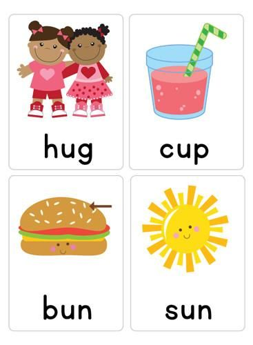 Spelling clipart early literacy. Cvc word flash cards