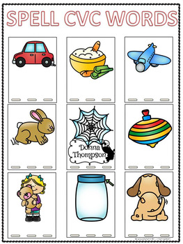 Spelling clipart word bank. Cvc worksheets words by