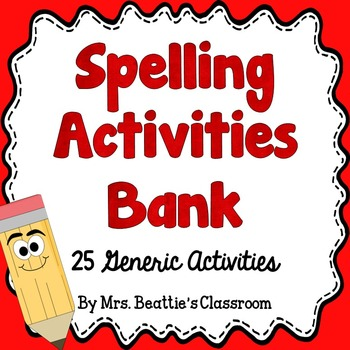 Spelling clipart word bank. Activities for any list
