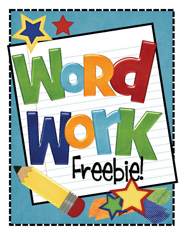 Spelling clipart word study.