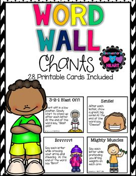 Spelling clipart word wall. Chants for grades k