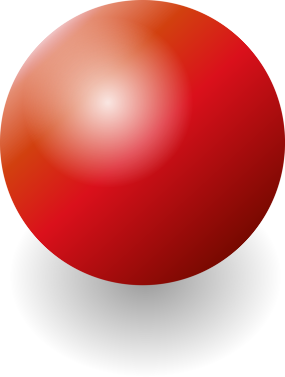 Sphere clipart. Ball red drawing free
