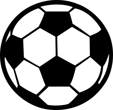 Soccer ball clipart black and white. Sphere sport gear free