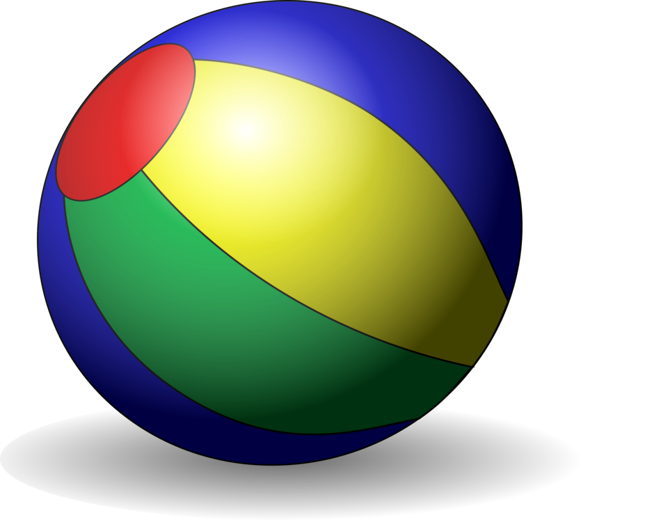 Sphere clipart yellow. Beach ball download computer