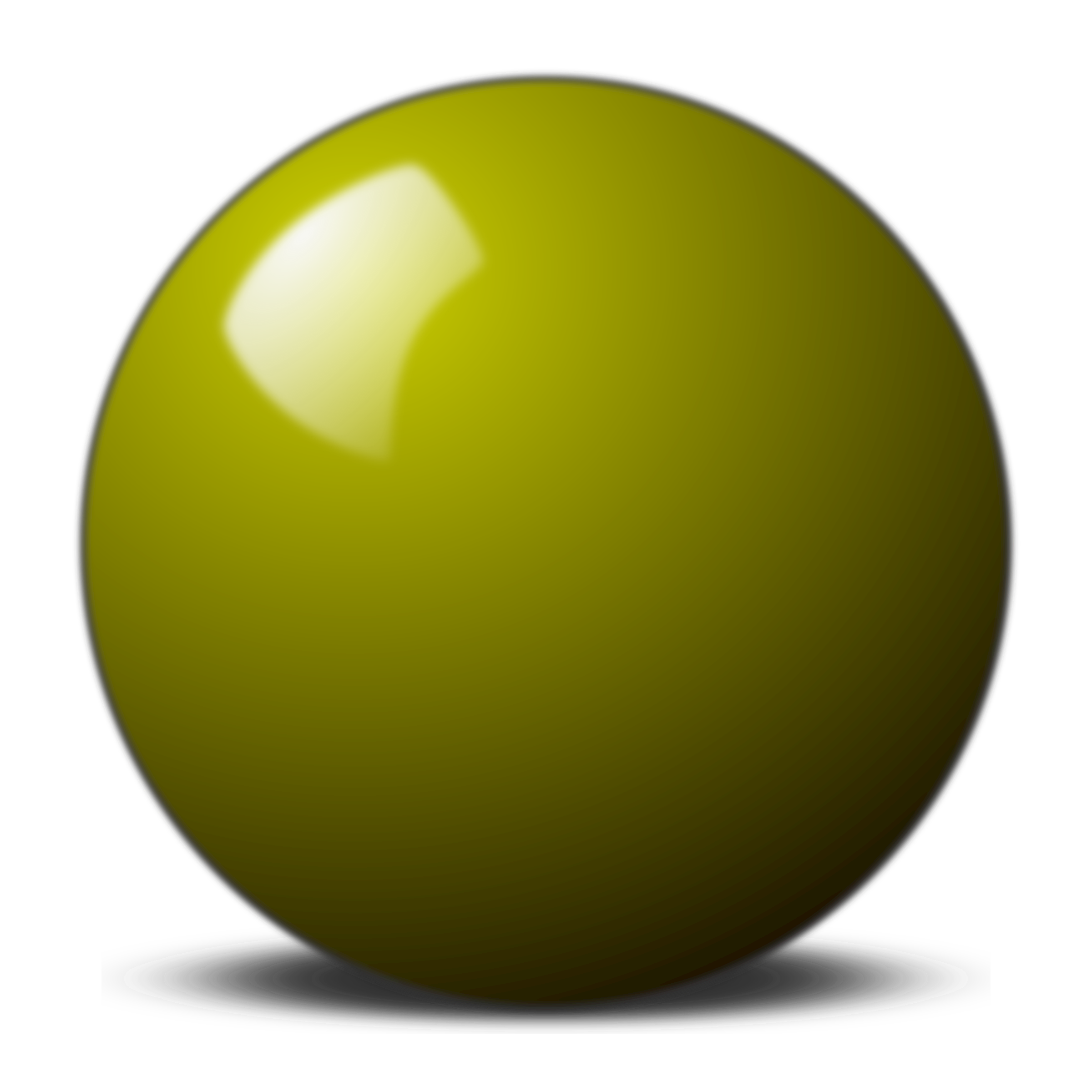 Sphere clipart yellow. Snooker ball big image