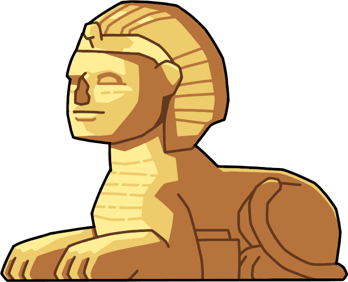 Sphinx head png. Image structure scribblenauts wiki