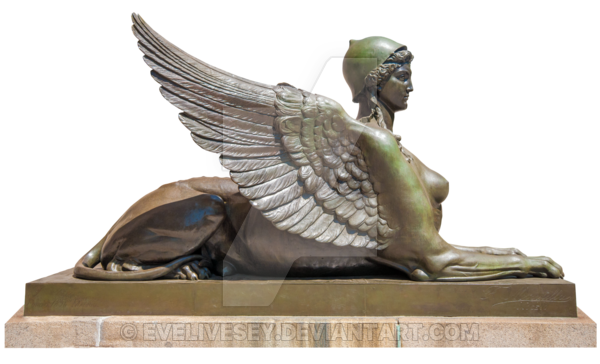 Sphinx statue png. By evelivesey on deviantart