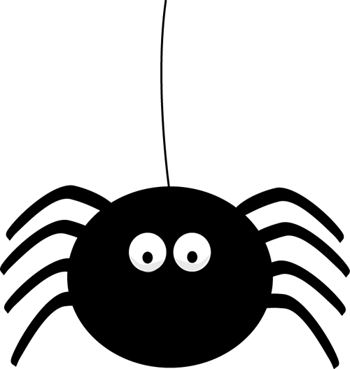 Spider hanging png. Halloween clipart