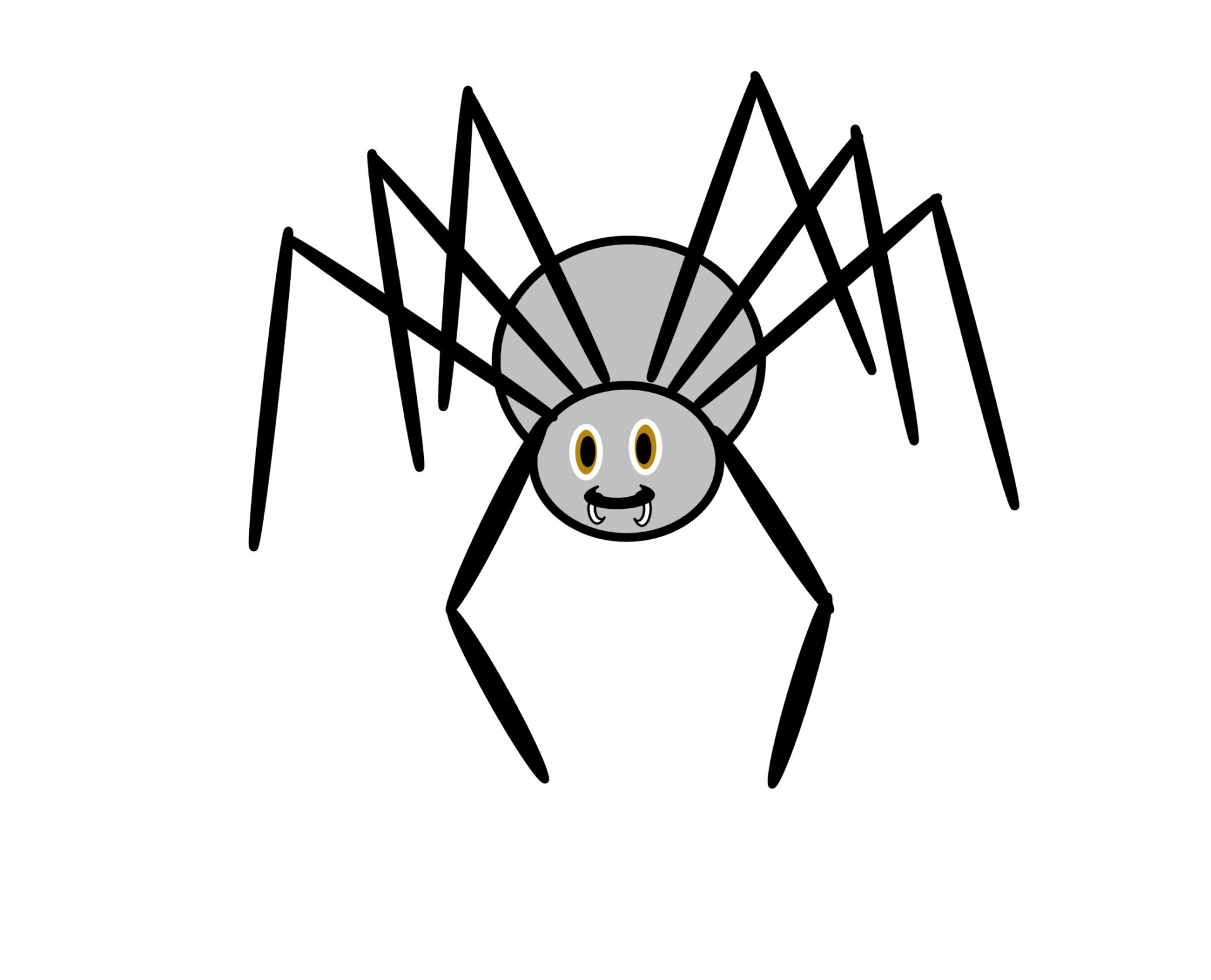 Spiders clipart white eye. Spider clipartix
