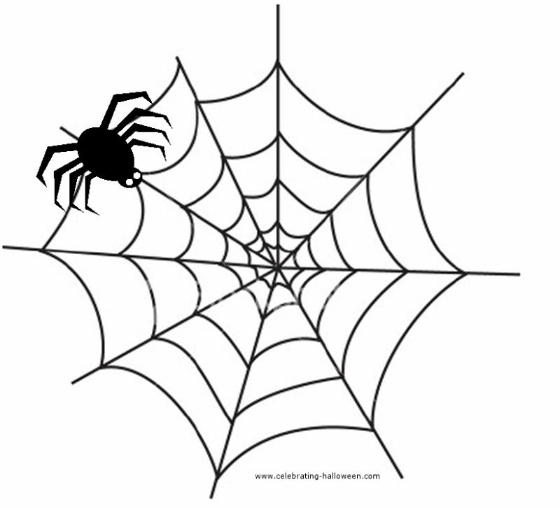 Spider clipart october. Simple web drawing at