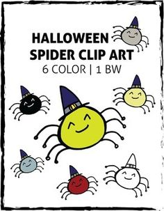 Spider clipart october. Cute birds and branches