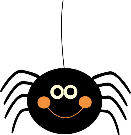 Hanging spider png. Cute halloween clip art