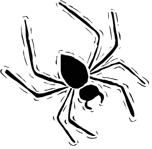 Spider clipart spider head. Free halloween panda images