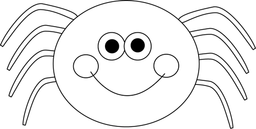 Spiders clipart white eye. Spider black and picture