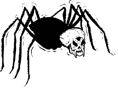 Free halloween public domain. Spider clipart spider head svg transparent library