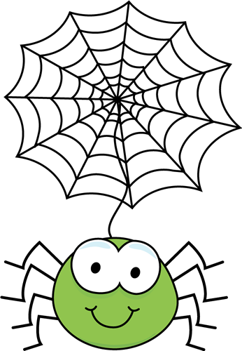 Spider clipart spider head. Cute web panda free