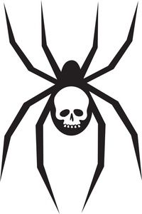 Spider clipart spider head. Black widow image creepy
