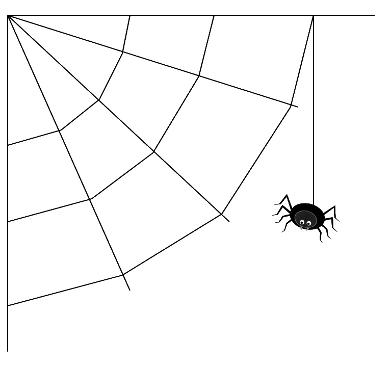 Spider clipart webclip. Black in web clip