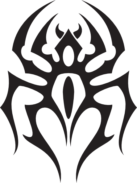 Spider logo png. Tribal style clip art