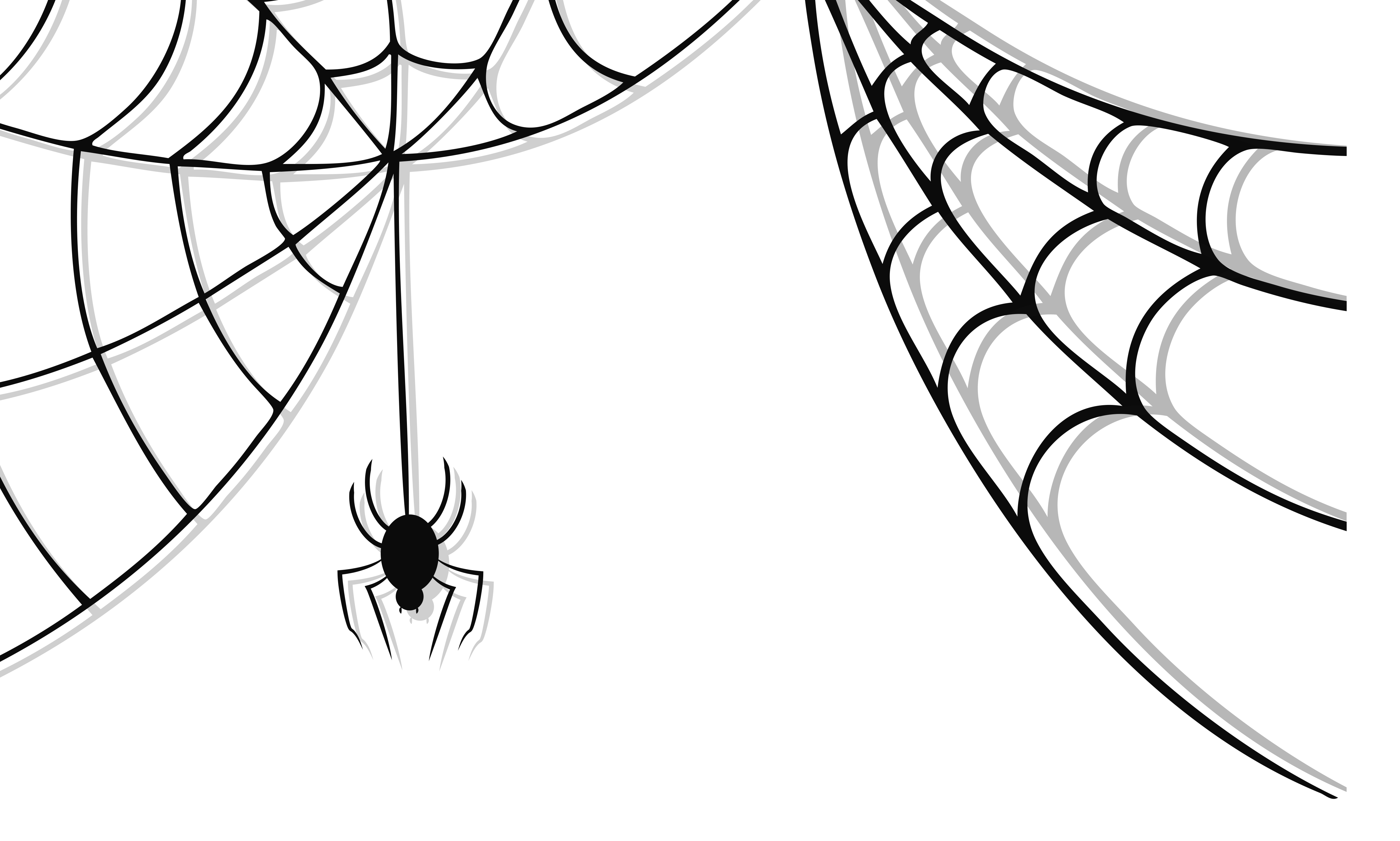 Drawing wallpapers web page. Haunted spider and clipart