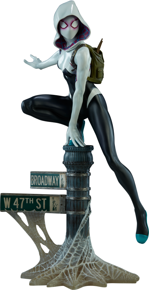 Marvel statue by sideshow. Spider gwen png clip royalty free