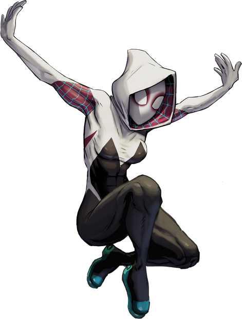 spider-gwen png gwen black and white