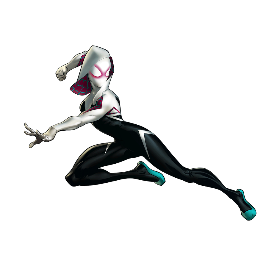 Gal fighters spider by. Spider-gwen png gwen black and white clipart library library
