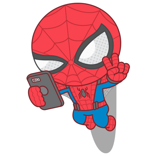 Spider-gwen png kawaii. Spider man homecoming sticker