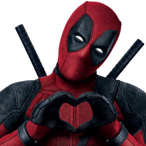 Spiderman arms crossed png. Deadpool heart sign transparent