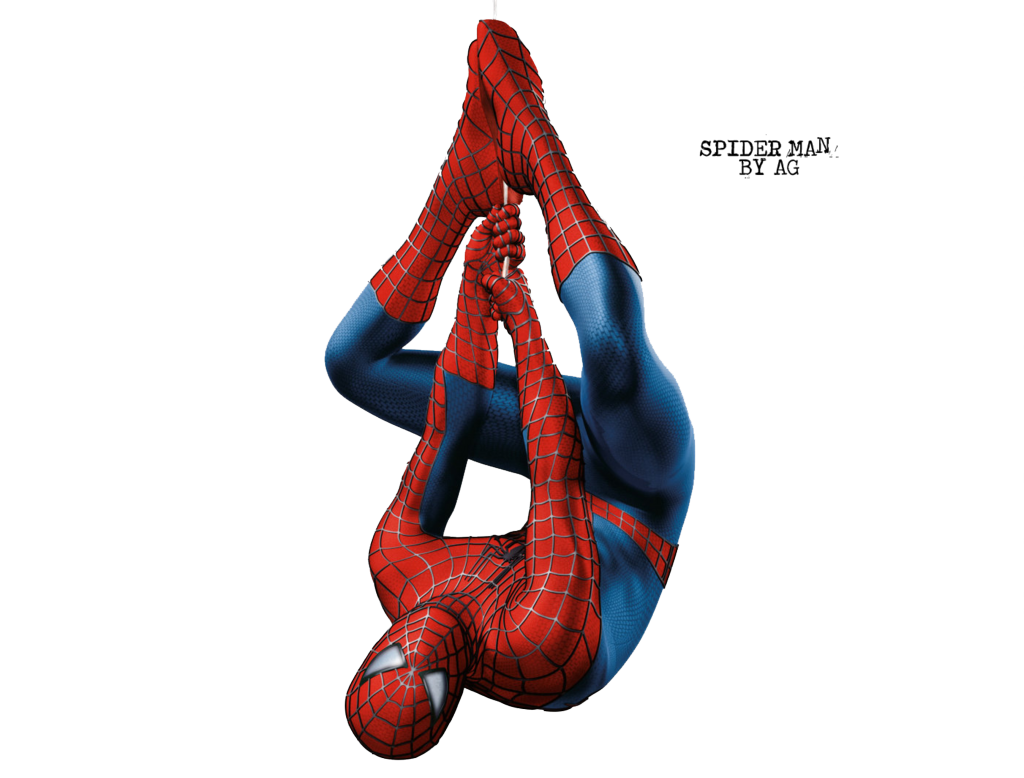 spiderman upside down png